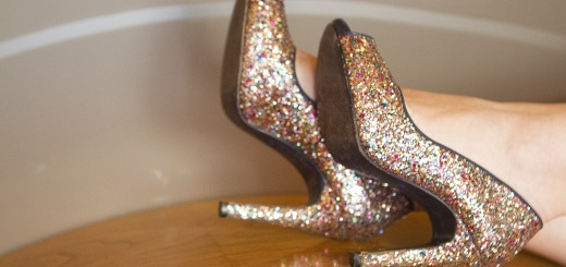 zapatos glitter peep toes de uttu Shoes blog de moda y tendencias